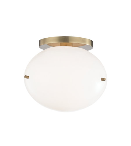 Mitzi By Hudson Valley H102601-AGB Winnie 1 Light Flush Mount in Aged Brass