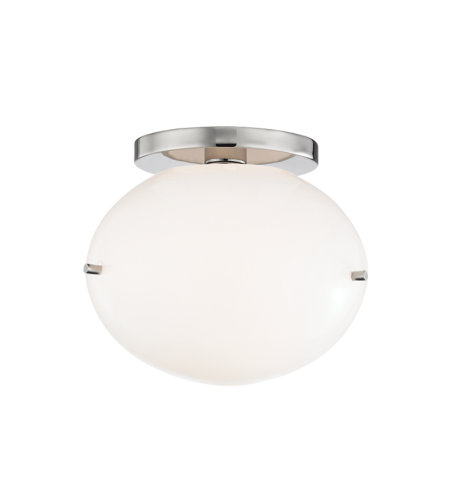 Mitzi By Hudson Valley H102601-PN Winnie 1 Light Flush Mount in Polished Nickel