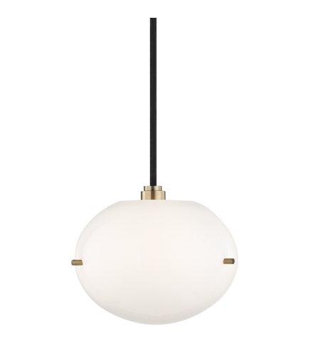 Mitzi by Hudson Valley Lighting H102701-AGB Winnie 1 Light Pendant in Aged Brass