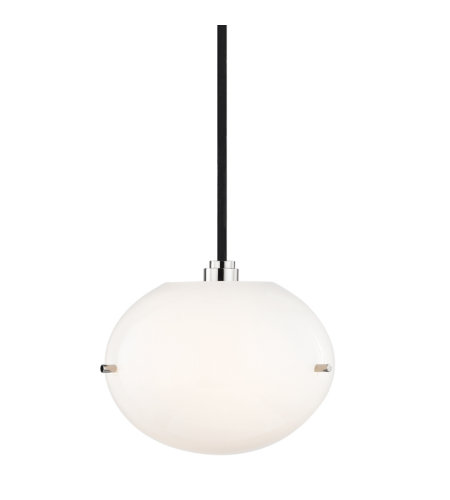 Mitzi® By Hudson Valley H102701-Pn 1 Light Pendant In Polished Nickel
