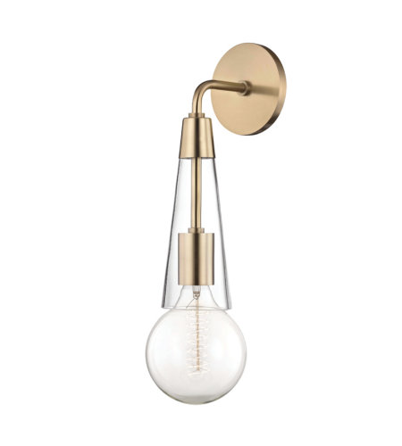 Mitzi by Hudson Valley Lighting H103101-AGB Joni 1 Light Wall Sconce in Aged Brass