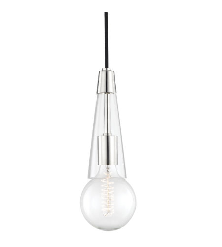 Mitzi by Hudson Valley Lighting H103701-PN Joni 1 Light Pendant in Polished Nickel