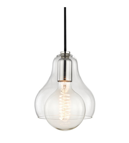 Mitzi by Hudson Valley Lighting H104701L-PN Sadie 1 Light Pendant in Polished Nickel