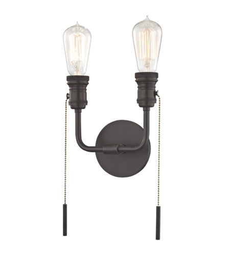 Mitzi By Hudson Valley H106102-OB Lexi 2 Light Wall Sconce in Old Bronze