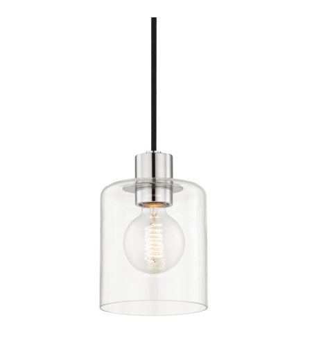 Mitzi by Hudson Valley Lighting H108701-PN Neko 1 Light Pendant in Polished Nickel