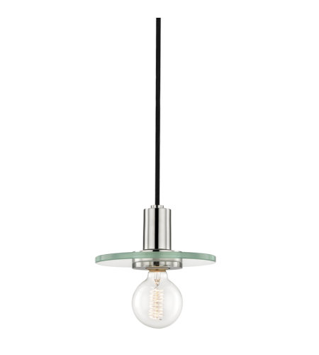 Mitzi® By Hudson Valley H113701s-Pn Peyton 1 Light Small Pendant In Polished Nickel