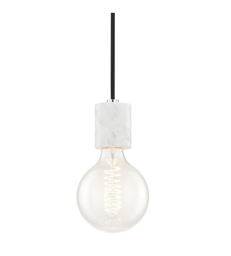 Mitzi® By Hudson Valley H120701-Pn 1 Light Pendant In Polished Nickel