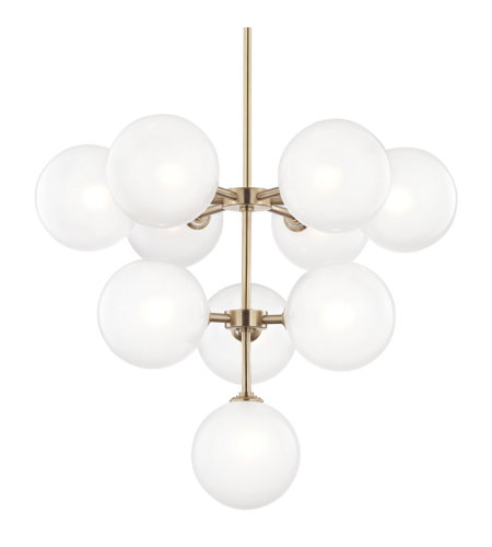 Mitzi® By Hudson Valley H122810-Agb 10 Light Chandelier In Aged Brass