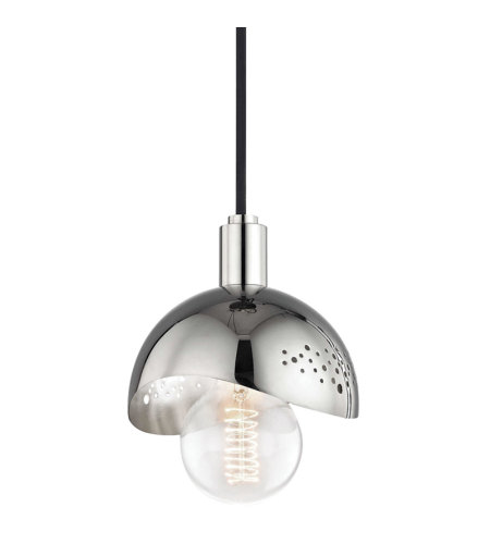 Mitzi by hudson valley h131701 pb heidi 1 light pendant in polished related products aloadofball Image collections