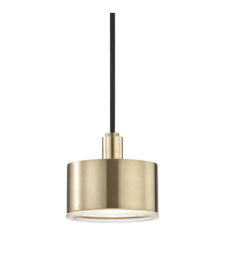 Mitzi® By Hudson Valley H159701-Agb 1 Light Pendant In Aged Brass