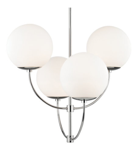 Mitzi® By Hudson Valley H160804-Pn 4 Light Chandelier In Polished Nickel