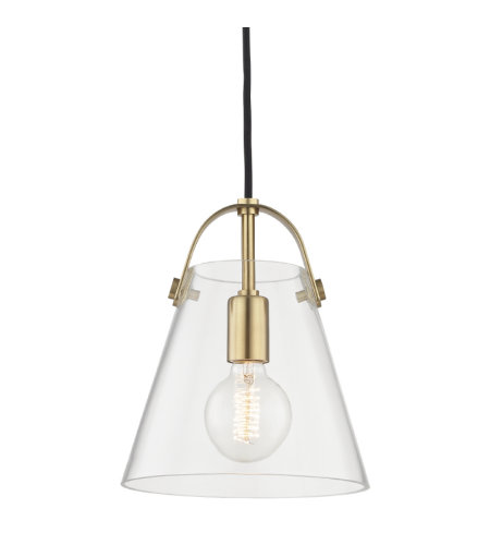 Mitzi® By Hudson Valley H162701s-Agb Karin 1 Light Small Pendant In Aged Brass