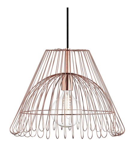 Mitzi by Hudson Valley Lighting H180701L-POC Katie 1 Light Pendant in Polished Copper