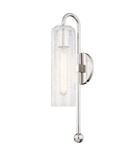 Mitzi By Hudson Valley H222101-PN Skye 1 Light Wall Sconce in Polished Nickel