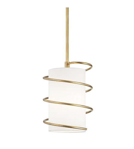 Mitzi by Hudson Valley Lighting H237701S-GL Carly 1 Light Pendant in Gold Leaf
