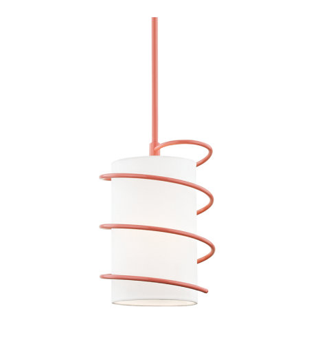 Mitzi By Hudson Valley H237701S-PK Carly 1 Light Pendant in Pink