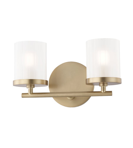 Mitzi By Hudson Valley H239302-AGB Ryan 2 Light Bath And Vanity in Aged Brass