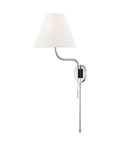 Mitzi By Hudson Valley HL240101-PN Patti 1 Light Wall Sconce in Polished Nickel