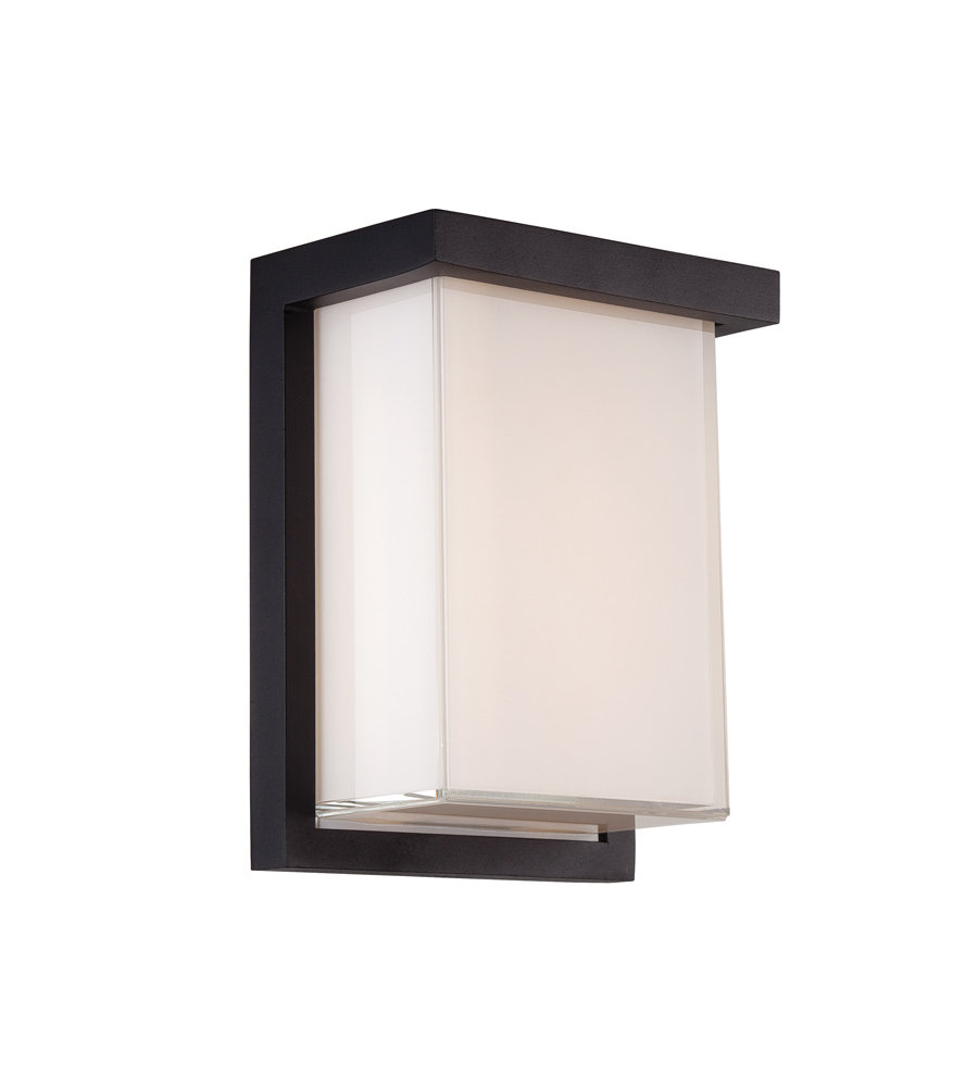 Modern forms ws w1408 bk ledge 8in led outdoor wall light 3000k in black