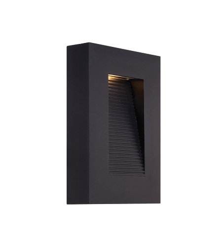 Modern Forms WS-W1110-BK Urban 10in LED Outdoor Wall Light 3000K in Black