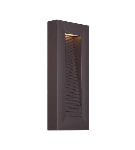 Modern Forms WS-W1116-BZ Urban 16in LED Outdoor Wall Light 3000K in Bronze