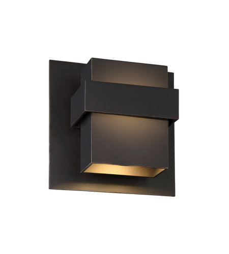 Modern Forms WS-W30509-ORB Pandora 9in LED Outdoor Wall Light 3000K in Oil Rubbed Bronze
