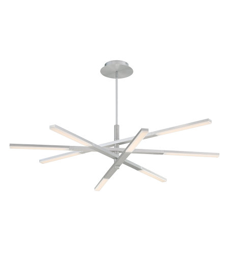 Modern Forms PD-50748-AL Stacked LED Pendant 3000K in Brushed Aluminum