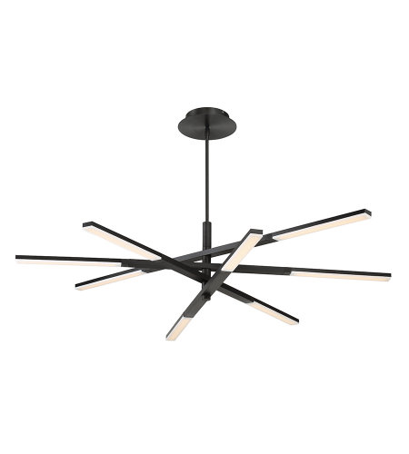 Modern Forms PD-50748-BK Stacked LED Chandelier 3000K in Black