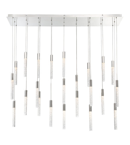 Modern Forms PD-35623L-PN Magic LED 23 Light Linear Chandelier 3000K in Polished Nickel