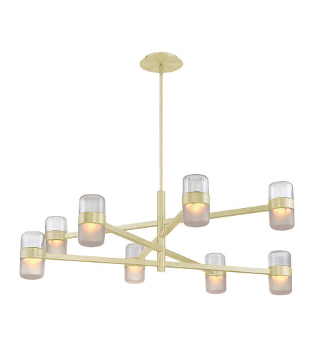 Modern Forms PD-25740-BR Jazz LED 8 Light Chandelier 3000K in Brushed Brass