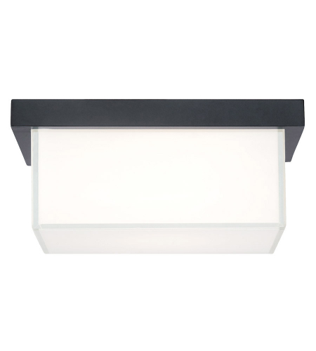 Modern Forms FM-1410-BK Ledge LED Flush Mount in Black