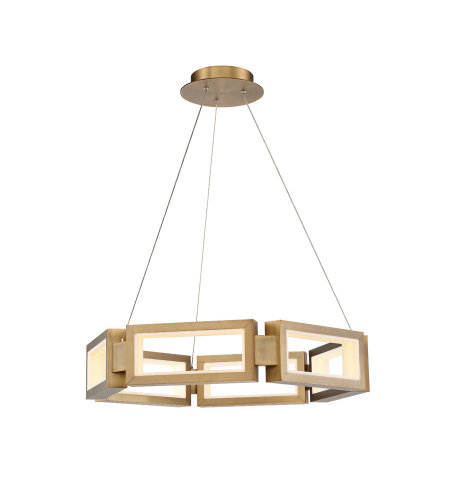 Modern Forms PD-50829-AB Mies 29in LED Chandelier 3000K in Aged Brass
