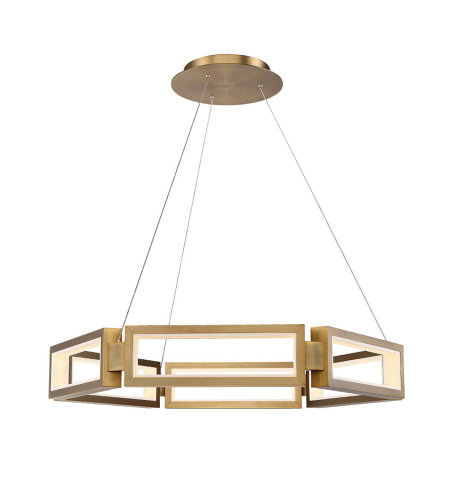 Modern Forms PD-50835-AB Mies 35in LED Chandelier 3000K in Aged Brass