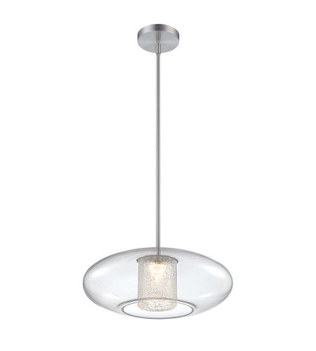 Modern Forms PD-51218-AL Ethereal LED Pendant in Brushed Aluminum