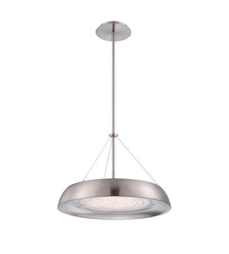 Modern Forms PD-51418-BN Soleil LED Pendant in Brushed Nickel