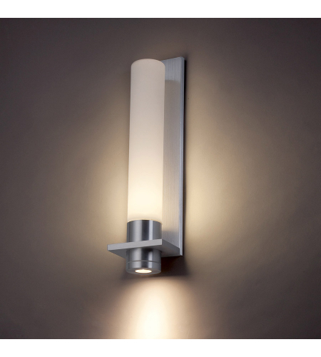 Modern Forms WS-2818-AL Jedi LED Outdoor Wall Light in Brushed Aluminum