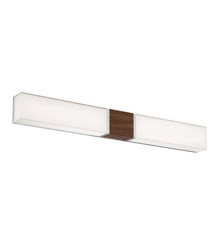 Modern Forms WS-80838-DW Vigo 38in LED Bathroom Vanity & Wall Light 3000K in Dark Walnut