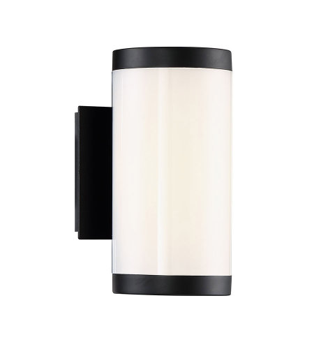 Modern Forms WS-W12809-30-BK Lithium 9in LED Outdoor Wall Light 3000k in Black