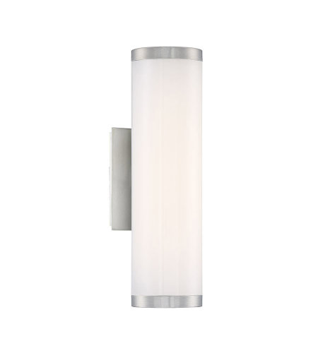 Modern Forms WS-W12816-40-AL Lithium 16in LED Outdoor Wall Light 4000k in Brushed Aluminum