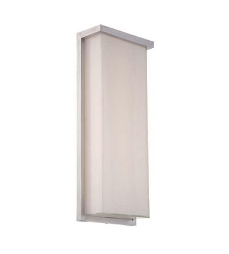 Modern Forms WS-W1420-AL Ledge LED Outdoor Wall Light in Brushed Aluminum