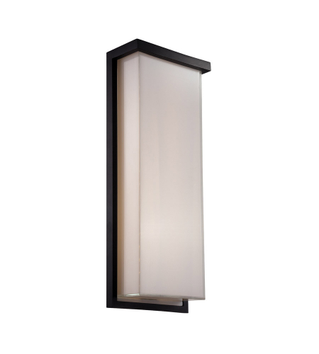 Modern Forms WS-W1420-BK Ledge LED Outdoor Wall Light in Black