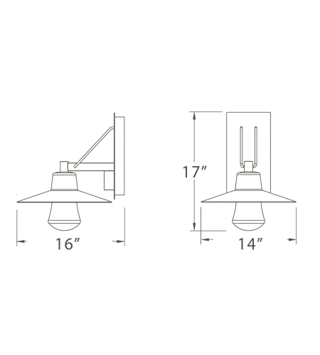 Modern Forms WS-W1917-AL Suspense LED Outdoor Wall Light in Brushed Aluminum
