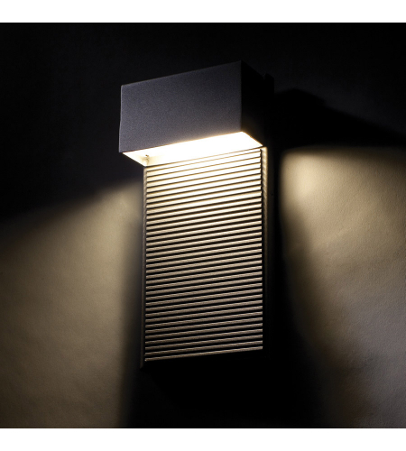 Modern Forms WS-W2308-BK Hiline LED Outdoor Wall Light in Black