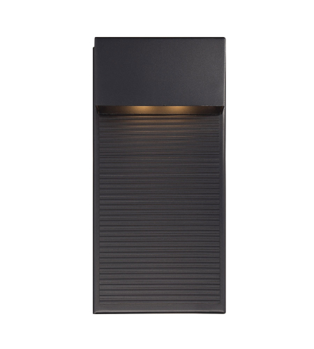 Modern Forms WS-W2312-BK Hiline LED Outdoor Wall Light in Black