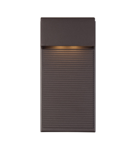 Modern Forms WS-W2312-BZ Hiline LED Outdoor Wall Light in Bronze