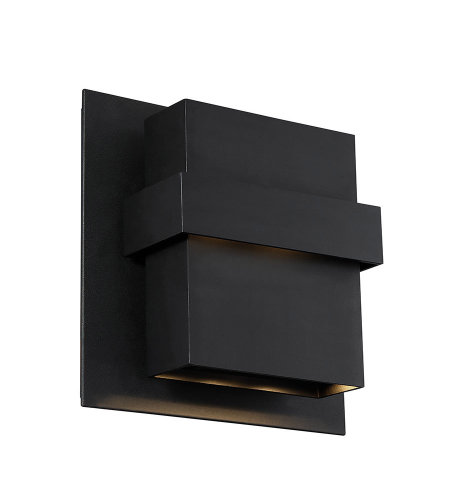 Modern Forms WS-W30511-BK Pandora 11in LED Outdoor Wall Light 3000K in Black