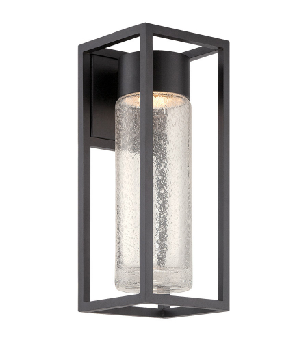 Modern Forms WS-W5416-BK Structure LED Outdoor Wall Light in Black