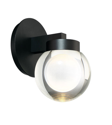 Modern Forms WS-W68809-BK Atom 9in LED Outdoor Wall Light 3000k in Black