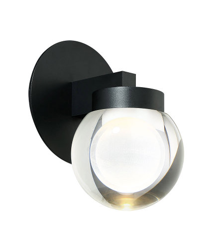Modern Forms WS-W68810-BK Atom 10in LED Outdoor Wall Light 3000k in Black