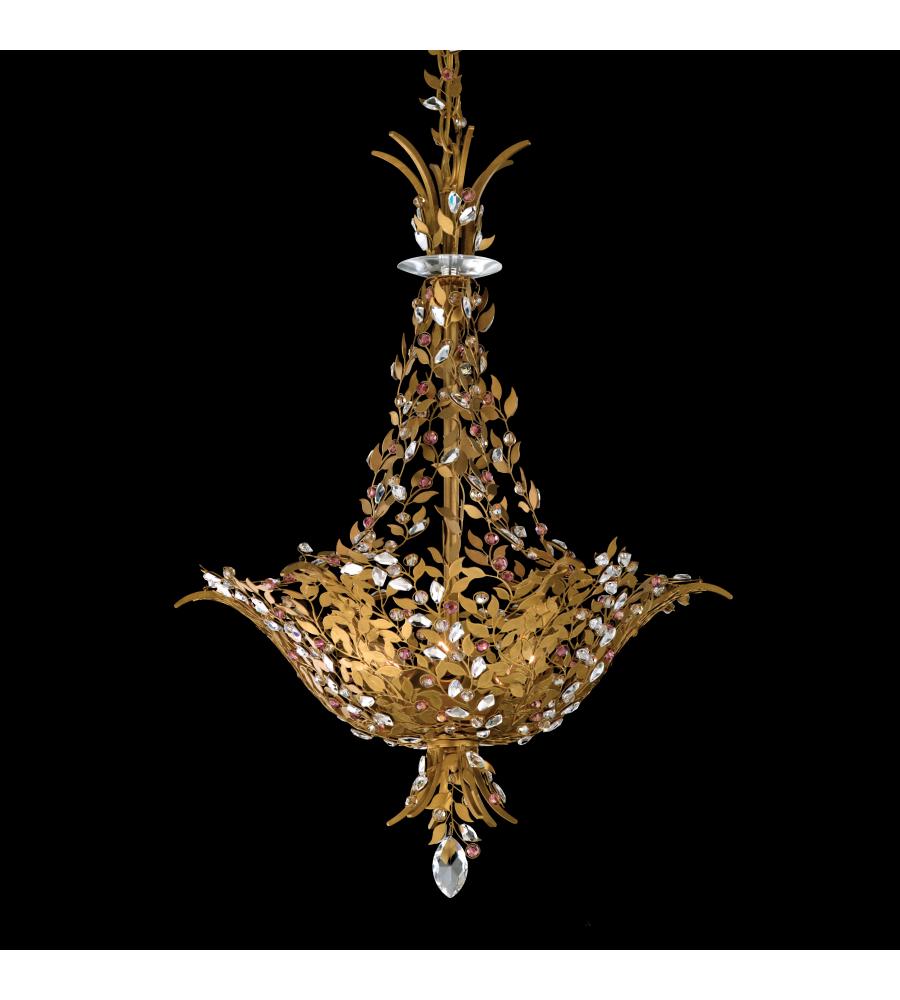 Schonbek Chandelier Replacement Crystals: Schonbek Am5506n-22ray Amytis 3 Light 110v Chandelier In